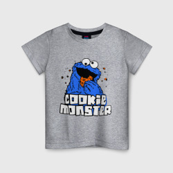 Cookie monster ест печеньку