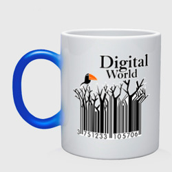 Кружка хамелеон 'Digital World'