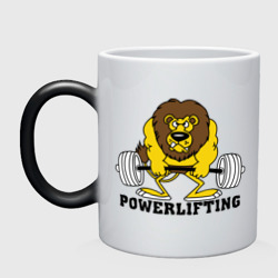 Кружка хамелеон Лев Powerlifting