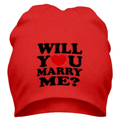 Шапка 'Will You Marry Me?'