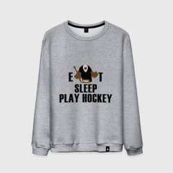 Мужской свитшот хлопок 'Eat sleep play hockey'