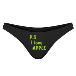'P.S I love apple'