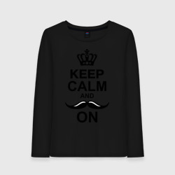 'Keep calm and mustache on'