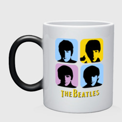 Кружка хамелеон The Beatles pop art