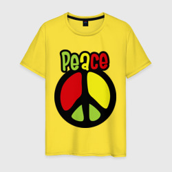 Peace red, yellow, green