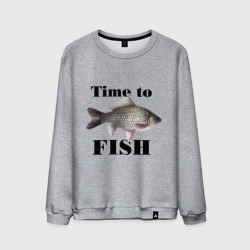 Мужской свитшот хлопок 'Time to fish.'