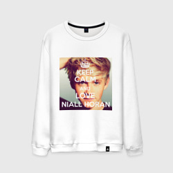Мужской свитшот хлопок 'Keep calm and love Niall Horan'