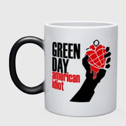Кружка хамелеон 'Green day. American idiot (1)'