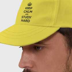 Бейсболка Keep calm and study hard