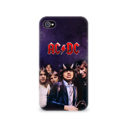 Чехол для Apple iPhone 4/4S 3D AC/DC