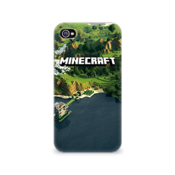 Чехол для Apple iPhone 4/4S 3D Minecraft