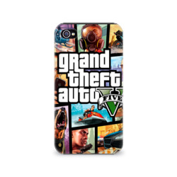 Чехол для Apple iPhone 4/4S 3D GTA