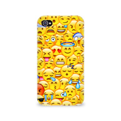 Чехол для Apple iPhone 4/4S 3D Emoji