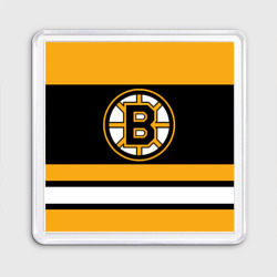Магнит 55*55 Boston Bruins