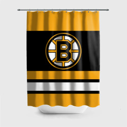 Штора 3D для ванной Boston Bruins