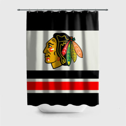 Штора 3D для ванной Chicago Blackhawks