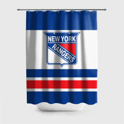 Штора 3D для ванной New York Rangers