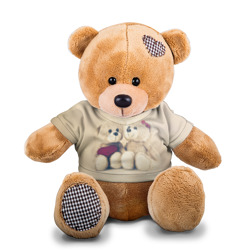 Мишка в футболке 3D Love teddy bears