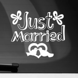 Наклейка на автомобиль Just Married 2