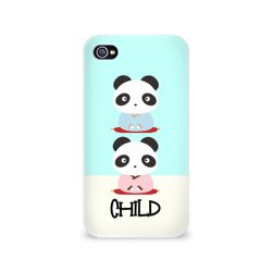 Чехол для Apple iPhone 4/4S 3D Family Look