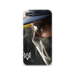 Чехол для Apple iPhone 4/4S 3D Watch Dogs 2