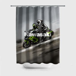 Штора 3D для ванной Kawasaky. Rapid couple