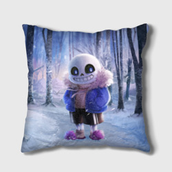 Подушка 3D 'Winter forest & Sans'