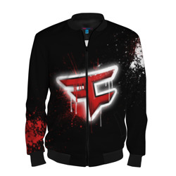 Мужской бомбер 3D 'cs:go - Faze clan (Black collection)'