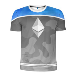 Мужская футболка 3D спортивная 'Black Milk Ethereum - Эфириум'