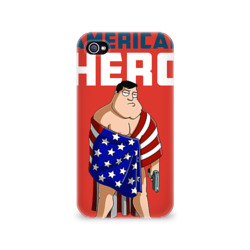 Чехол для Apple iPhone 4/4S 3D 'American Dad'