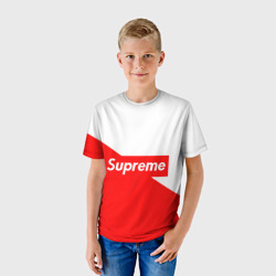 Детская футболка 3D 'Supreme Red and White'
