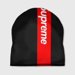 Шапка 3D 'Supreme Red and Black All'