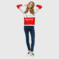 Женский свитшот 3D 'Supreme Red and White One'
