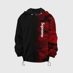 Детская куртка 3D 'Supreme Military Black Red'