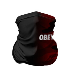 Бандана-труба 3D 'Obey Military Black Red'