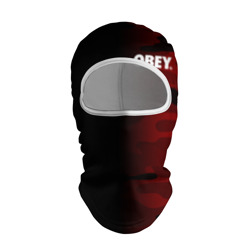 Балаклава 3D 'Obey Military Black Red'