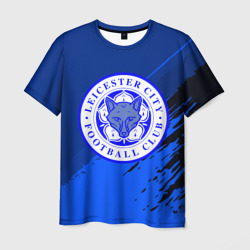 FC Leicester abstract style Мужская футболка 3D Leicester City