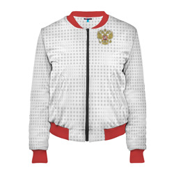 Женский бомбер 3D 'Russia away WC 2018'