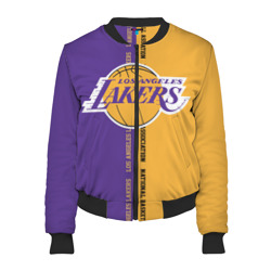 Женский бомбер 3D 'Los angeles lakers. NBA'