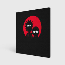 Холст квадратный 'Rick and Morty Red and Black'