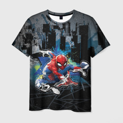 Spider-man over the city