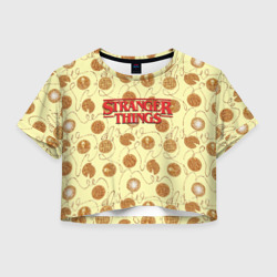 Сериалы Женская футболка Crop-top 3D Stranger Thing. Pancakes в Волгодонске