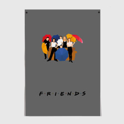 Friends with Umbrellas