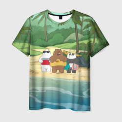Cartoon Network Мужская футболка 3D Bears on the beach в Рязани