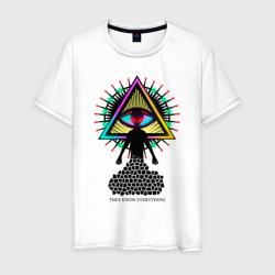Neon alien.The all-seeing eye