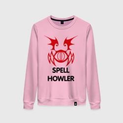 Женский свитшот хлопокDark Elf Mage - Spell Howler