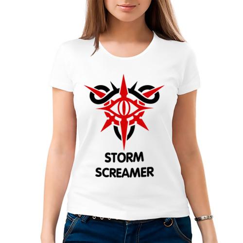 Женская футболка хлопок  Фото 03, Dark Elf Mage - Storm Screamer