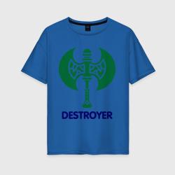 Женская футболка хлопок OversizeOrc Fighter - Destroyer