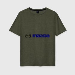 Женская футболка хлопок OversizeMazda