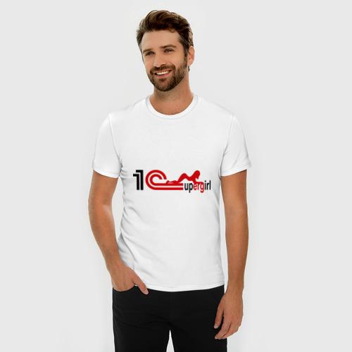 Мужская футболка премиум  Фото 03, 1C SuperGirl (1)